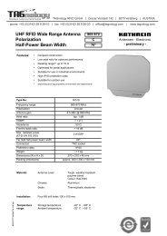 9363757; UHF RFID Wide Range Antenna ... - RFID Webshop