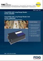 Fixed RFID UHF Long Range Reader ID ISC ... - RFID Webshop