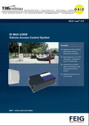 ID MAX.U2000 Vehicle Access Control System - RFID Webshop