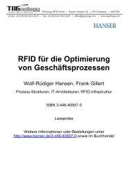 RFID für die Optimierung von Geschäftsprozessen - RFID Webshop