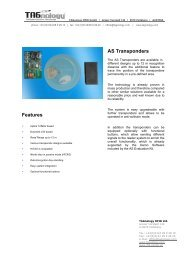 Features AS Transponders - RFID Webshop