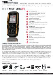 Sonim XP1301 CORE NFC_Tagnology_E - RFID Webshop
