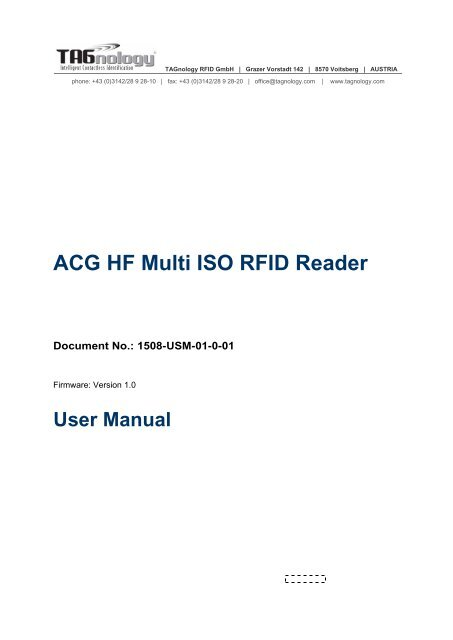 ACG RFID WINDOWS VISTA DRIVER