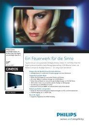 37PFL9603D/10 Philips Flachbildfernseher mit Perfect Pixel HD ...