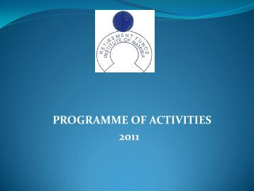 programme of activities 2011 - Retirement Funds Institute of Namibia ...