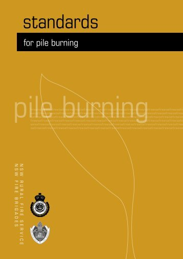 Pile burning - NSW Rural Fire Service