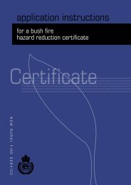 application for a Bush Fire Hazard Reduction Certificate