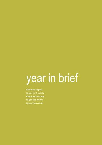 NSW RFS Annual Report 2012 Year in Brief - NSW Rural Fire Service
