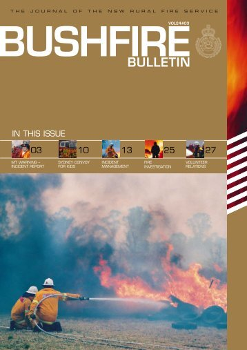 5833 RFS- Bulletin #3 - NSW Rural Fire Service - NSW Government