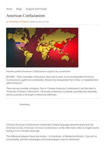 American Confucianism