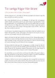 Tio vanliga frågor från lärare - RFSU