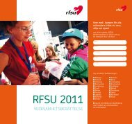 RFSU:s verksamhetsberättelse 2011 (pdf)