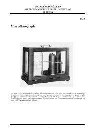 113-1 Mikro-Barograph - Meteorologische Instrumente KG