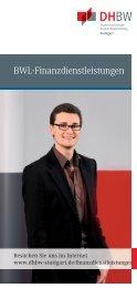 Flyer BWL-Finanzdienstleistungen - Duale Hochschule Baden ...