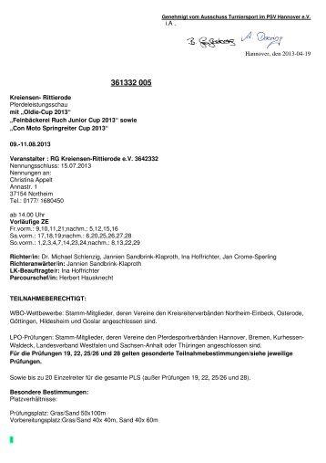32005 Kreiensen Rittierode Ausschreibung - RG Kreiensen ...