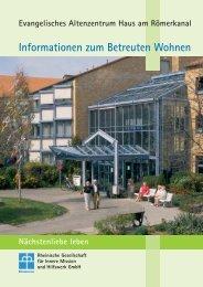 Informationen zum Betreuten Wohnen - Rheinische Gesellschaft