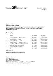 Verlagerung der Freiwilligen Feuerwehr - Remscheid General ...