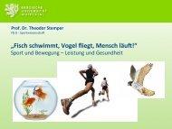 Vortrag von Professor Dr. Theodor Stemper