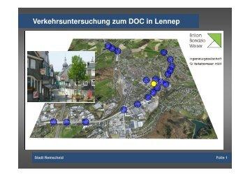 Verkehrsuntersuchung zum DOC in Lennep