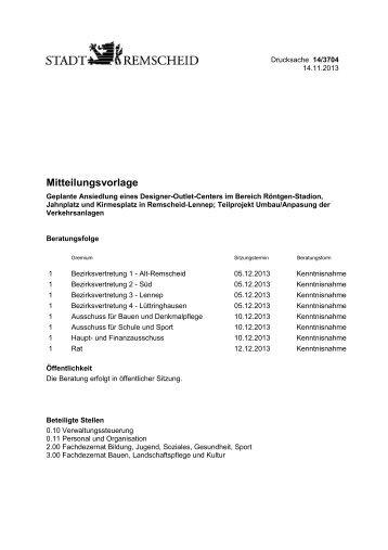 Umbau/Anpassung der Verkehrsanlagen