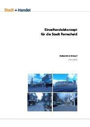Einzelhandels Einzelhandelskonzept für die Stadt für die Stadt ...