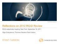 Presentation: Olga Chistyakova, Thomson Reuters Point Carbon