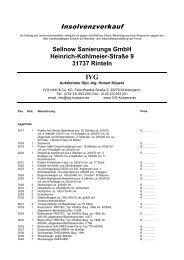 Sellnow Sanierungs GmbH Heinrich-Kohlmeier ... - IVG mbH & Co. KG