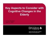 Key Aspects to Consider with Cognitive Changes in the Elderly