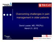 Overcoming Challenges in Pain Management of the Elderly