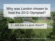Why was London chosen to host the 2012 Olympic and Paralympic ...