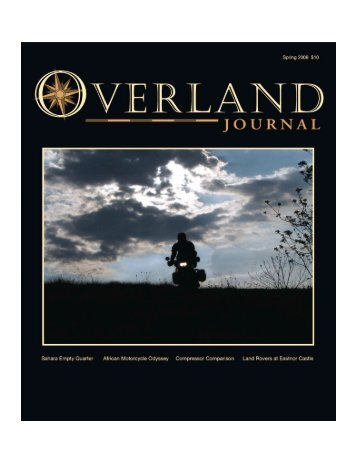 Overland Journal Article - Royal Geographical Society