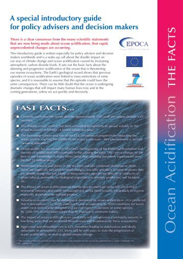 Ocean acidification - The Facts - English - epoca