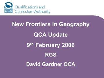 David Gardner PDF - Royal Geographical Society