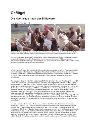 Geflügel - RGZV Iserlohn und Umgebung