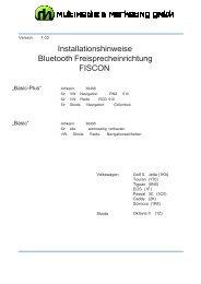 Anleitung VW BT - RH Multimedia