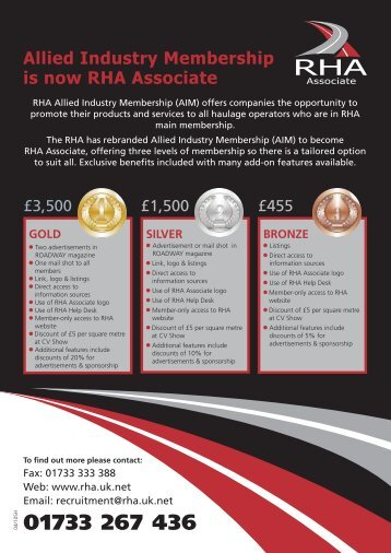 Allied Industry Membership is now RHA Associate - The Road ...