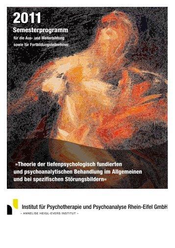Veranstaltungsprogramm 2011 [PDF] - Institut für Psychotherapie ...