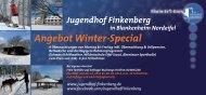 Angebot Winter-Special 2013/2014 - Rhein-Erft-Kreis