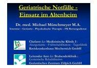 Geriatrische Notfälle - Einsatz im Altenheim - Rhein-Erft-Kreis