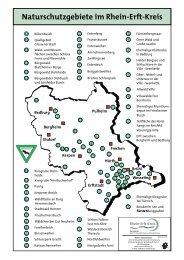 Naturschutzgebiete im Rhein-Erft-Kreis