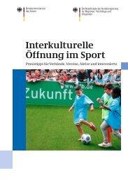 Interkulturelle Öffnung im Sport - Bundesregierung