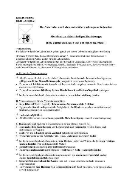 Info Märkte - Rhein-Kreis Neuss