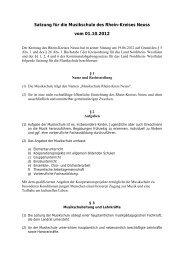 Satzung - Rhein-Kreis Neuss
