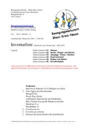 aktuellste Inventarliste - Rhein-Kreis Neuss