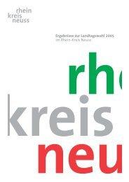 Landtagswahl 2005: Alle Ergebnisse im Rhein-Kreis Neuss Nicht ...