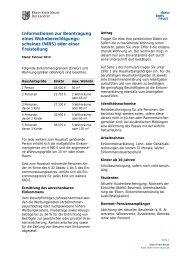 Informationen zur Beantragung eines Wohnberechtigungs- scheines ...
