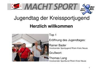 Jugendtag 2013 - Rhein-Kreis Neuss