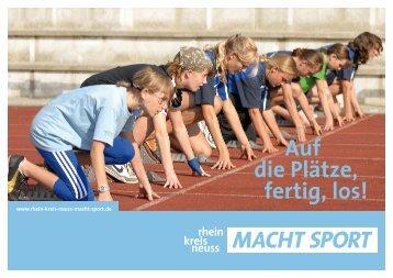 Die Imagebroschüre zum Sport im Rhein-Kreis Neuss