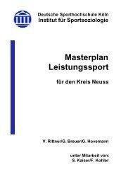 Masterplan Leistungssport - Rhein-Kreis Neuss