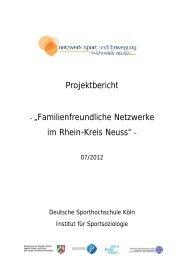 Sport und Bewegung - Rhein-Kreis Neuss
